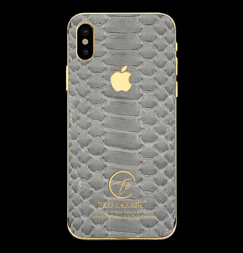 24K Gold Grey Python Edition iPhone X