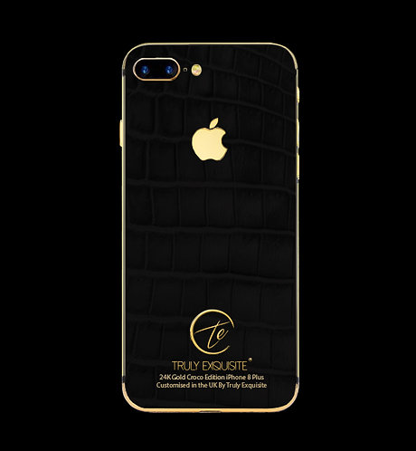 24K Gold Black Croco Edition iPhone 8 Plus