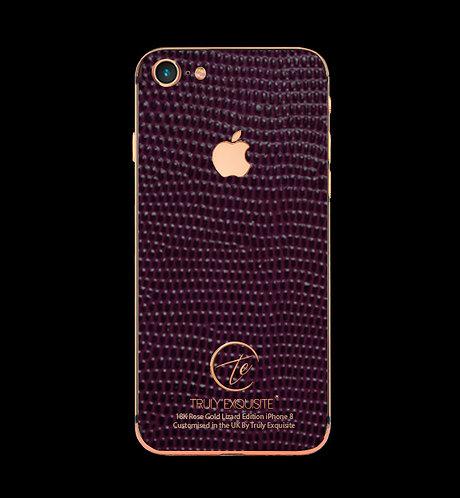 18K Rose Gold Purple Lizard Edition iPhone 8
