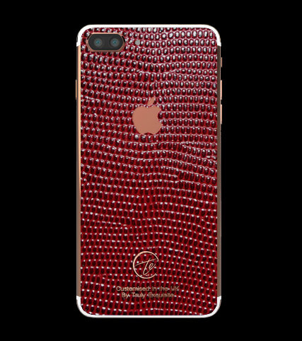 18K Rose Gold Red Lizard Edition iPhone 7 Plus