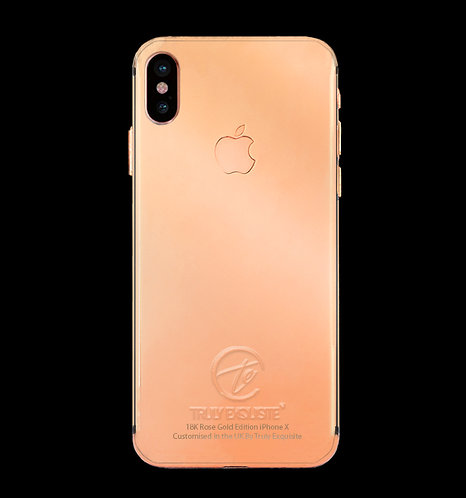 18K Rose Gold Plated iPhone X