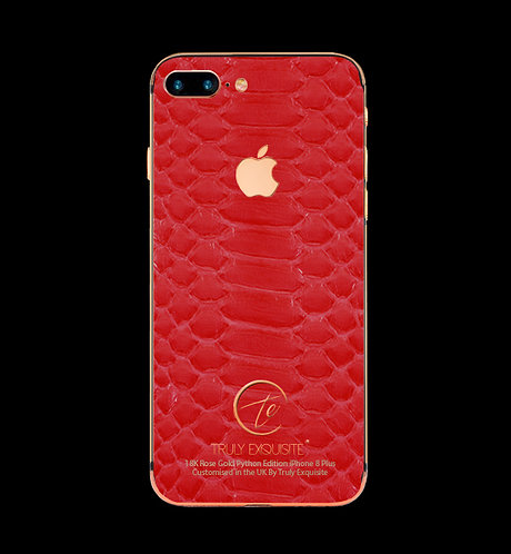 18K Rose Gold Red Python Edition iPhone 8 Plus