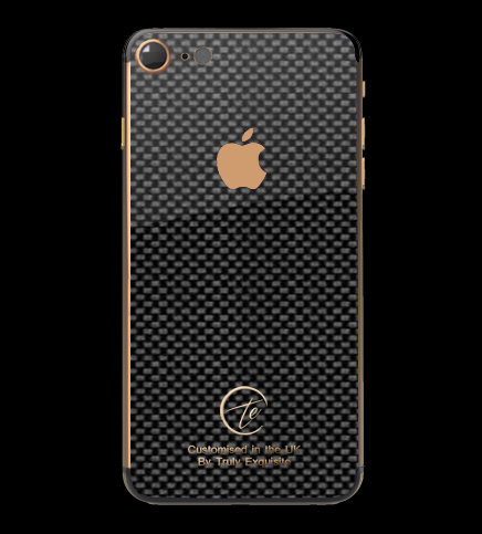 18K Rose Gold Plated Carbon Fibre iPhone 7