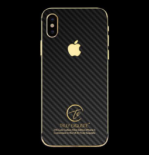 24K Gold Plated Carbon Fibre iPhone X