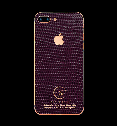 18K Rose Gold Purple Lizard Edition iPhone 8 Plus