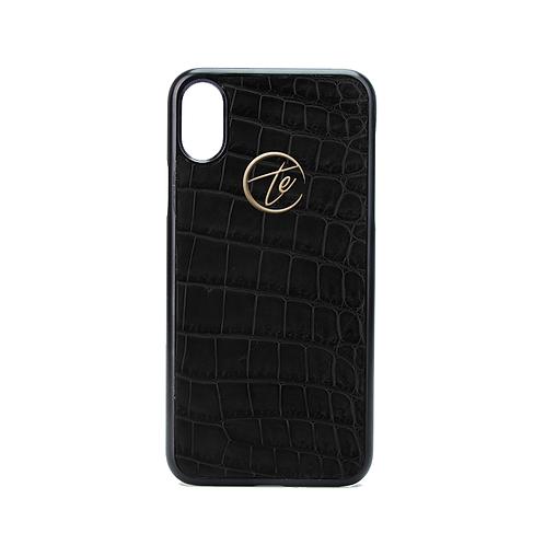 Black Crocodile Leather iPhone XS/XS Max Phone Case