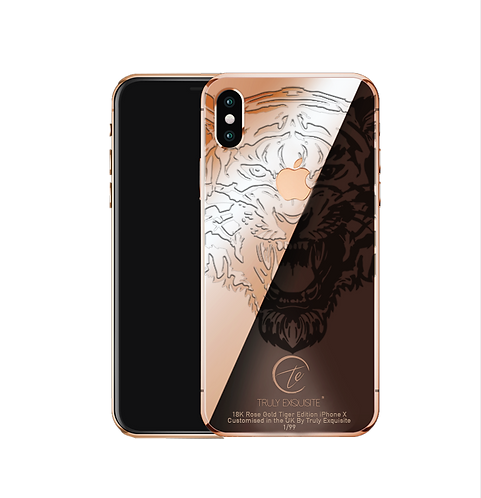18K Rose Gold Tiger Edition iPhone X