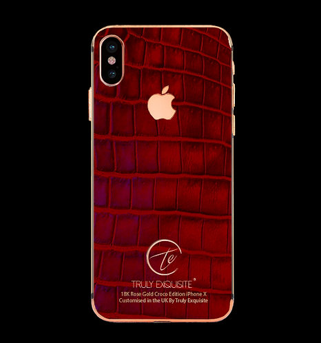 18K Rose Gold Red Croco Edition iPhone X