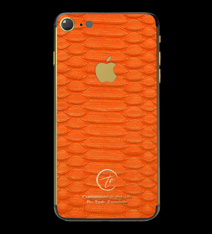 24K Gold Orange Python Edition iPhone 7