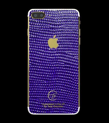 24K Gold Blue Lizard Edition iPhone 7 Plus