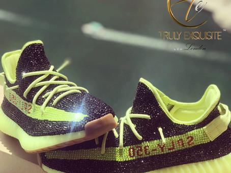 Exclusive Swarovski Crystal Adidas Yeezy's