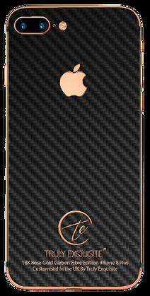 18k Rose Gold & Carbon Fibre iphone 8 Plus