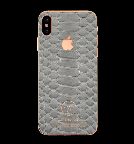 18K Rose Gold Grey Python Edition iPhone X