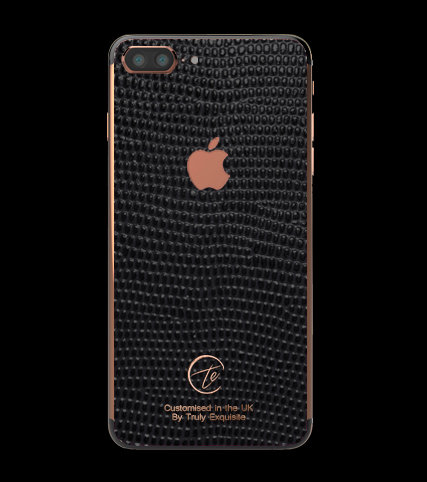 18K Rose Gold Black Lizard Edition iPhone 7 Plus
