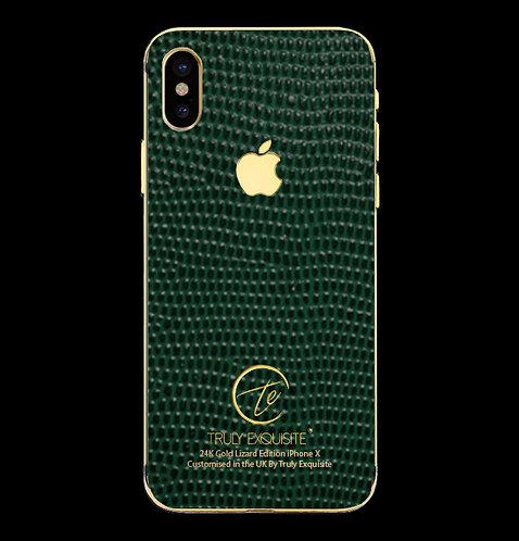 24K Gold Green Lizard Edition iPhone X