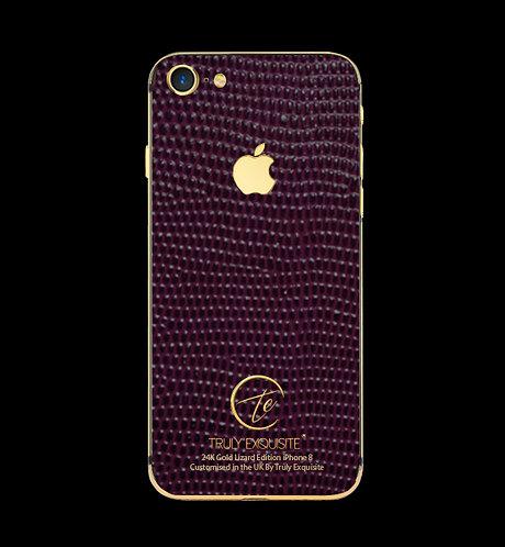 24K Gold Purple Lizard Edition iPhone 8
