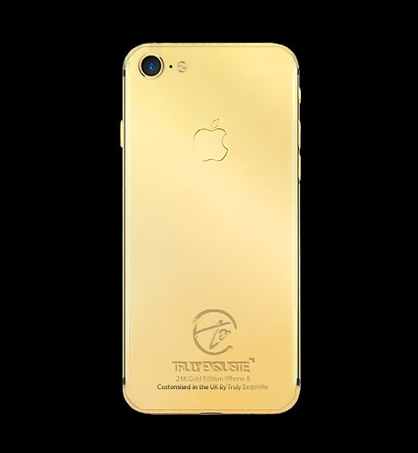 luxury 24K Gold plated iphone 8