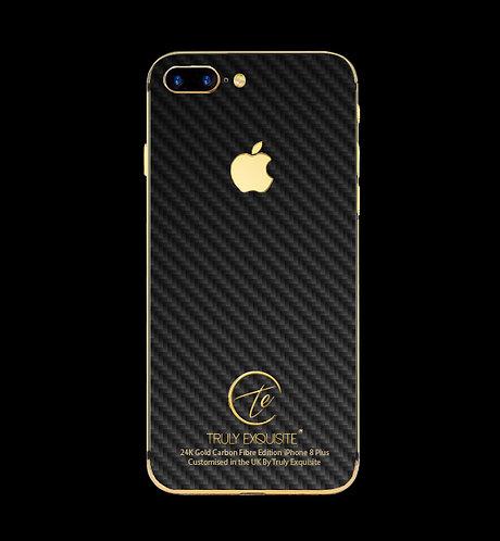 24K Gold Carbon Fibre iPhone 8 Plus
