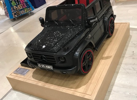 Merry Cryst-mas! 2 Exclusive Swarovski Crystal Mercedes Benz G-Wagon's supplied to Selfridges