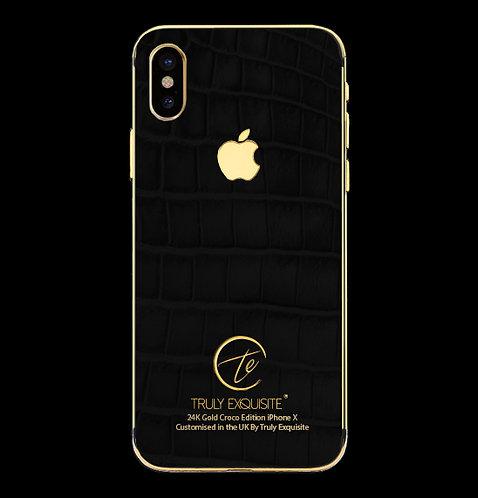 24K Gold Black Croco Edition iPhone X