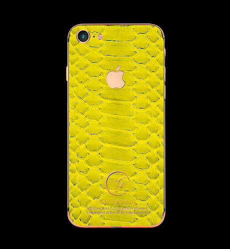 18K Rose Gold Yellow Python Edition iPhone 8
