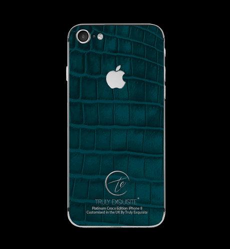 Platinum Turquoise Croco Edition iPhone 8