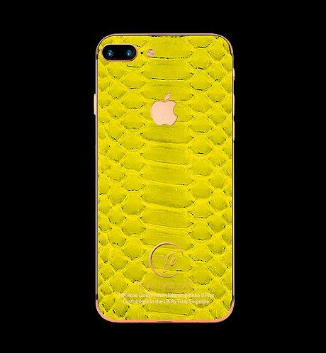18K Rose Gold Yellow Python Edition iPhone 8 Plus