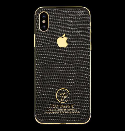 24K Gold Grey Lizard Edition iPhone X