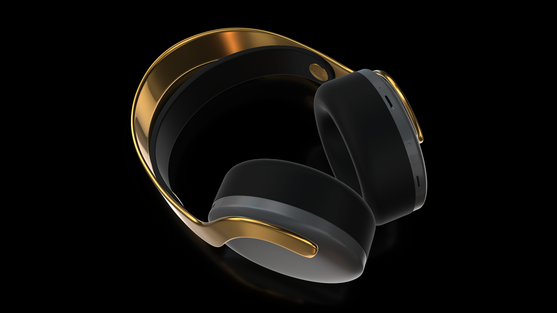 24K Gold PS5 Headset