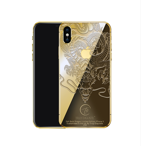 24K Gold Plated Dragon Edition iPhone X