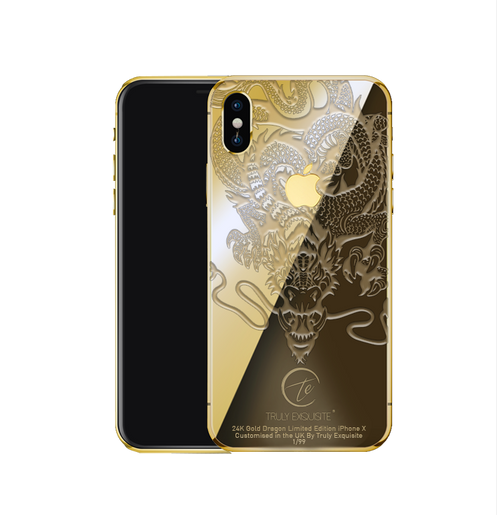new product 2300e 37e72 Luxury Limited Edition Dragon iPhone X