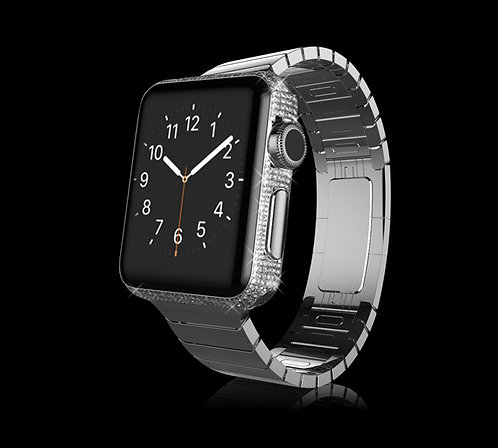 Platinum Plated Swarovski Legend Apple Watch