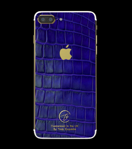 24K Gold Blue Croco Edition iPhone 7 Plus