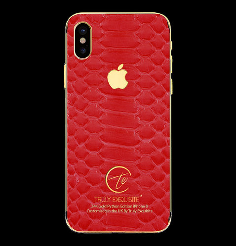 24K Gold Red Python Edition iPhone X