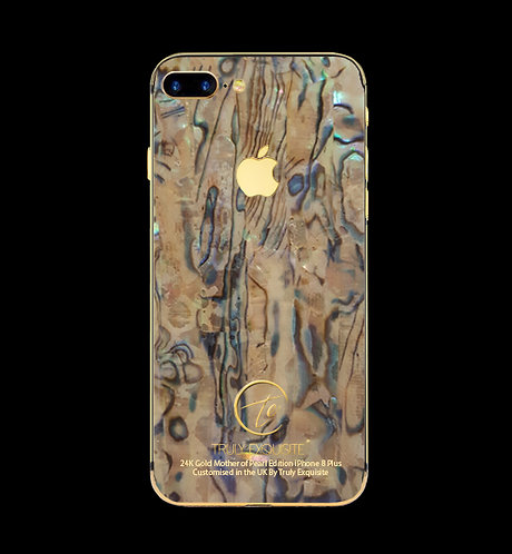 24K Gold Mother of Pearl iPhone 8 Plus