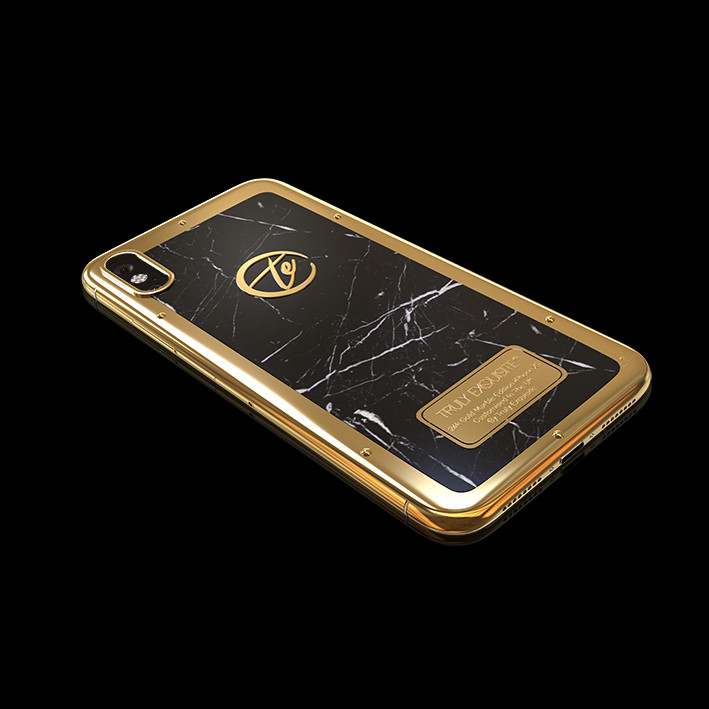 24K Gold iPhone XS Marble Edition
