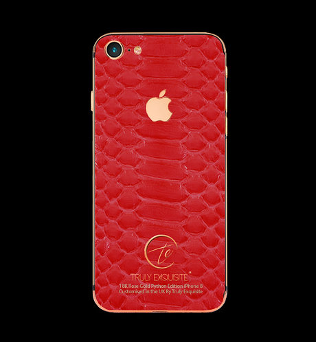 18K Rose Gold Red Python Edition iPhone 8
