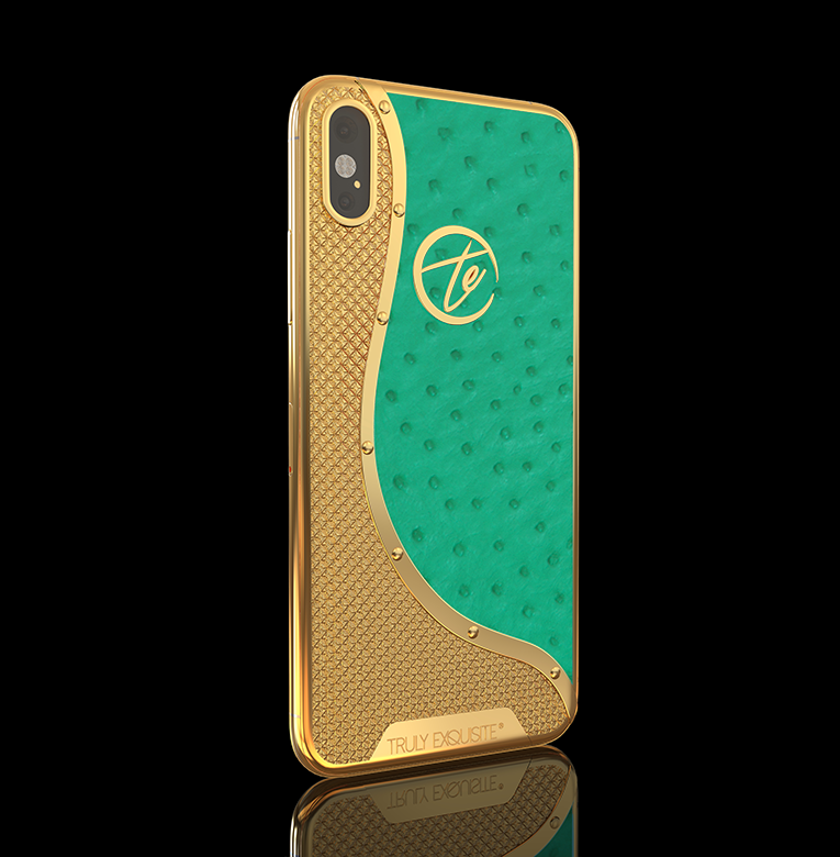 24k Gold iphone XS Ostrich Edition