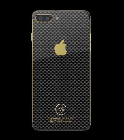 24K Gold Plated Carbon Fibre iPhone 7 Plus
