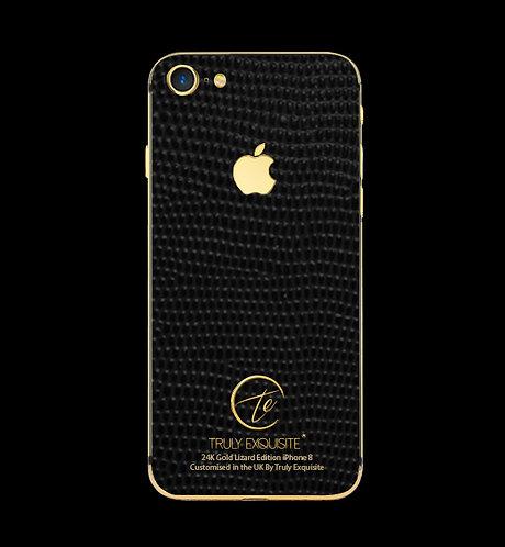 24K Gold Black Lizard Edition iPhone 8