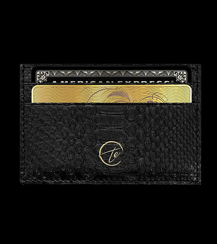 Python Leather Card Holder Wallet