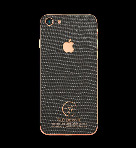 18K Rose Gold Grey Lizard Edition iPhone 8