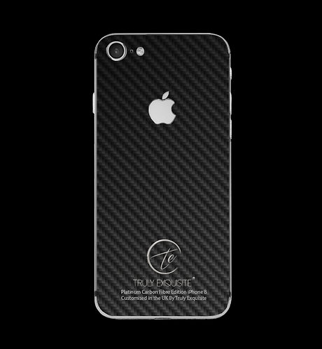 Platinum Carbon Fibre iPhone 8
