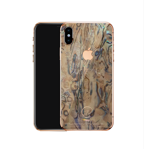 18k Rose Gold mother of pearl iPhone X