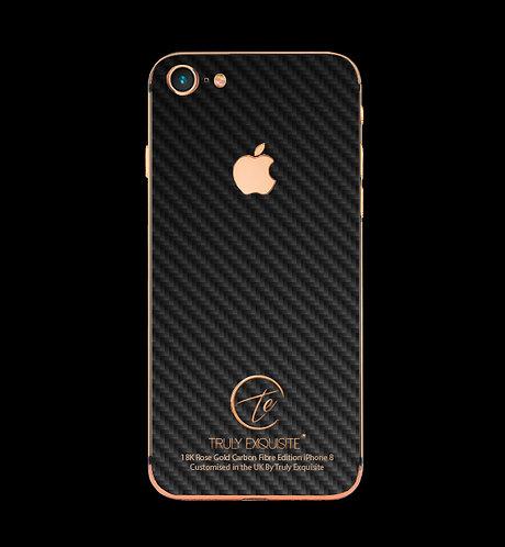 18K Rose Gold Carbon Fibre iPhone 8