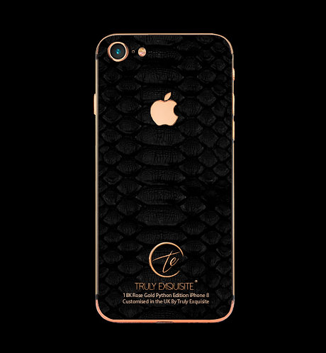 18K Rose Gold Black Python Edition iPhone 8