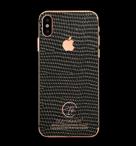 18K Rose Gold Grey Lizard Edition iPhone X