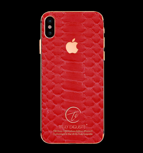 18K Rose Gold Red Python Edition iPhone X