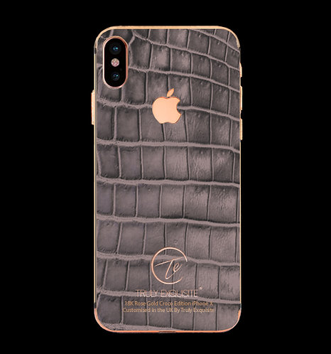 18K Rose Gold Grey Croco Edition iPhone X