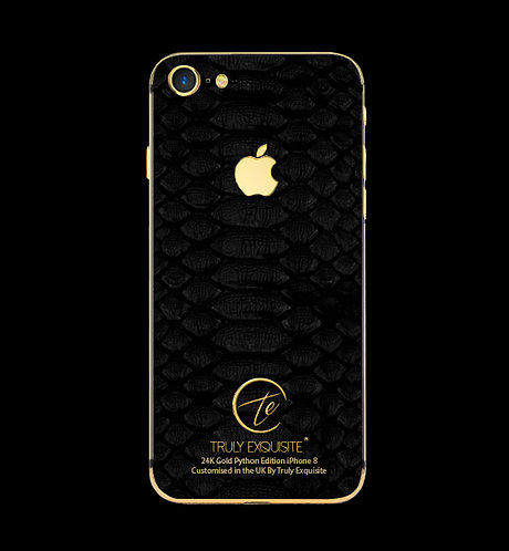 24K Gold Black Python Edition iPhone 8